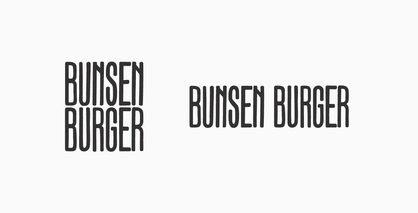 bunsen burger logo variations