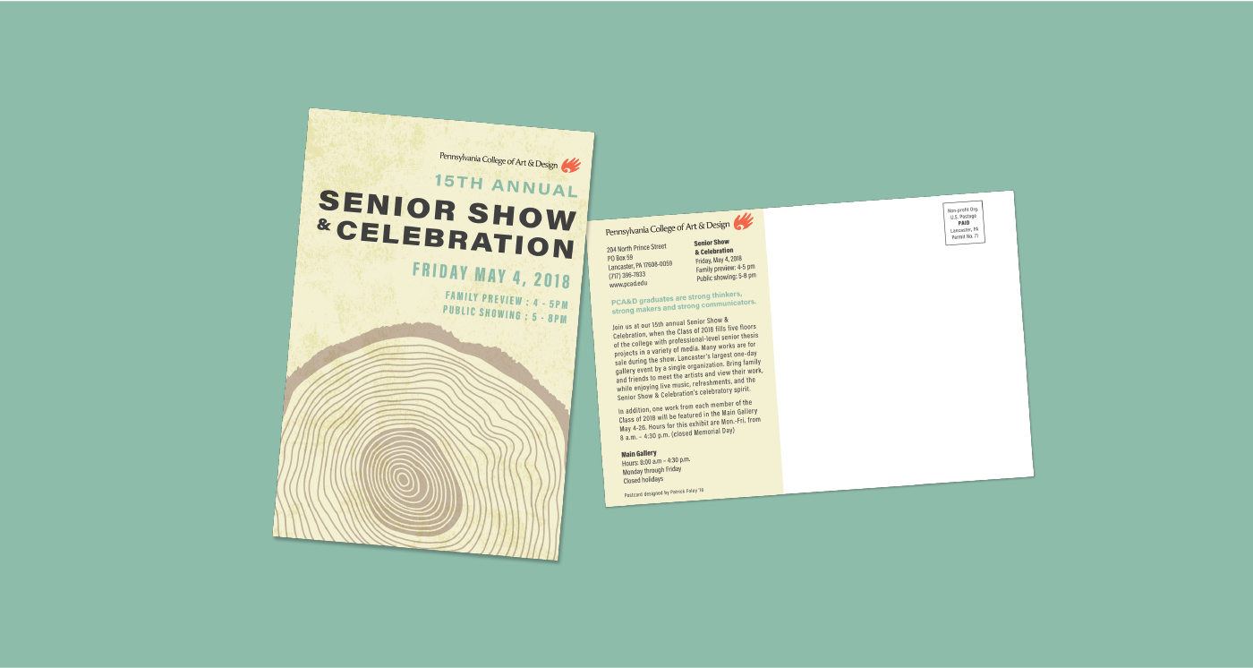 Senior show and celebration postcard