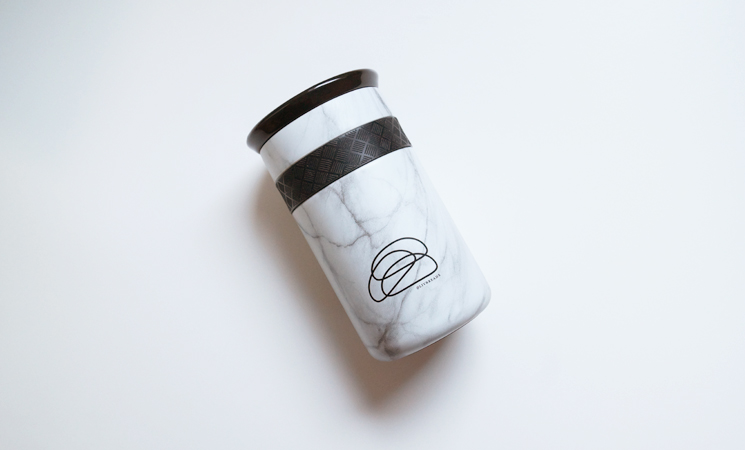 Photo of a Liv Breads coffee mug