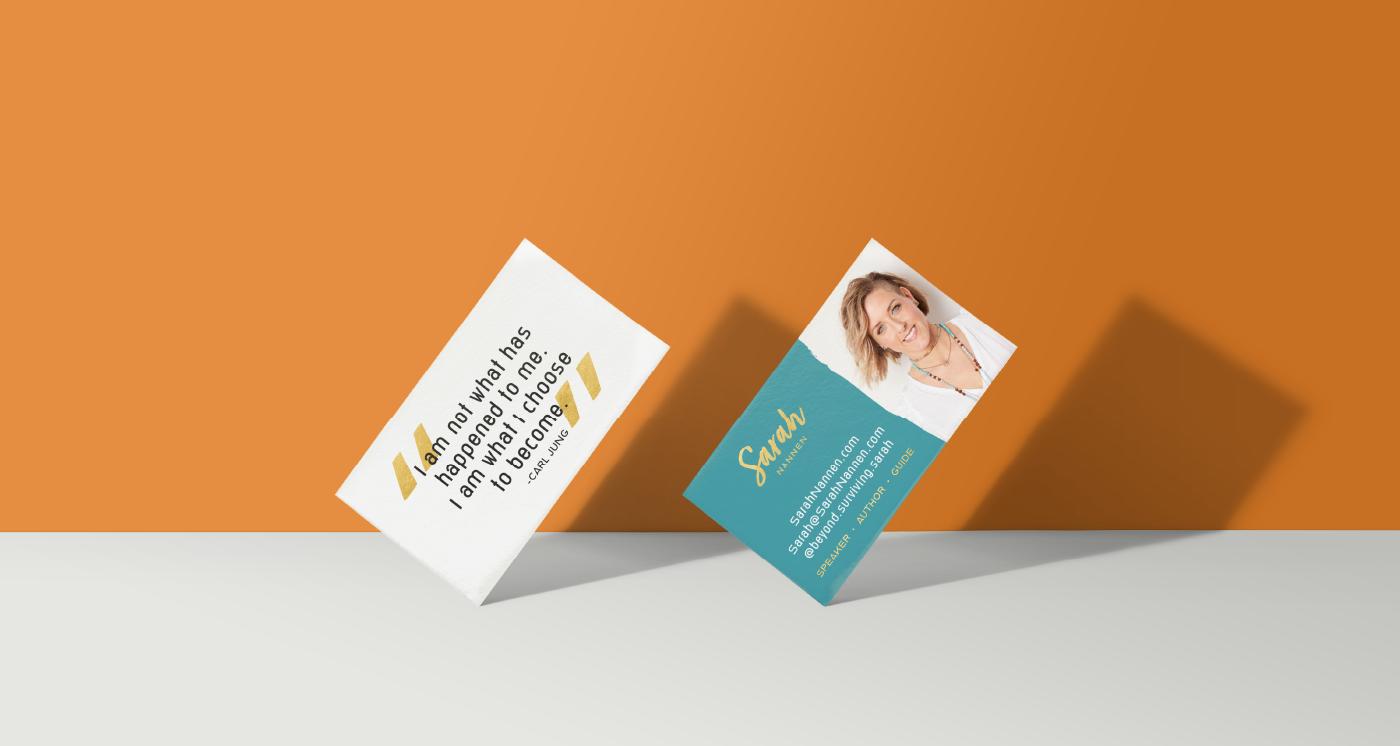 Sarah Nannen Business Cards design