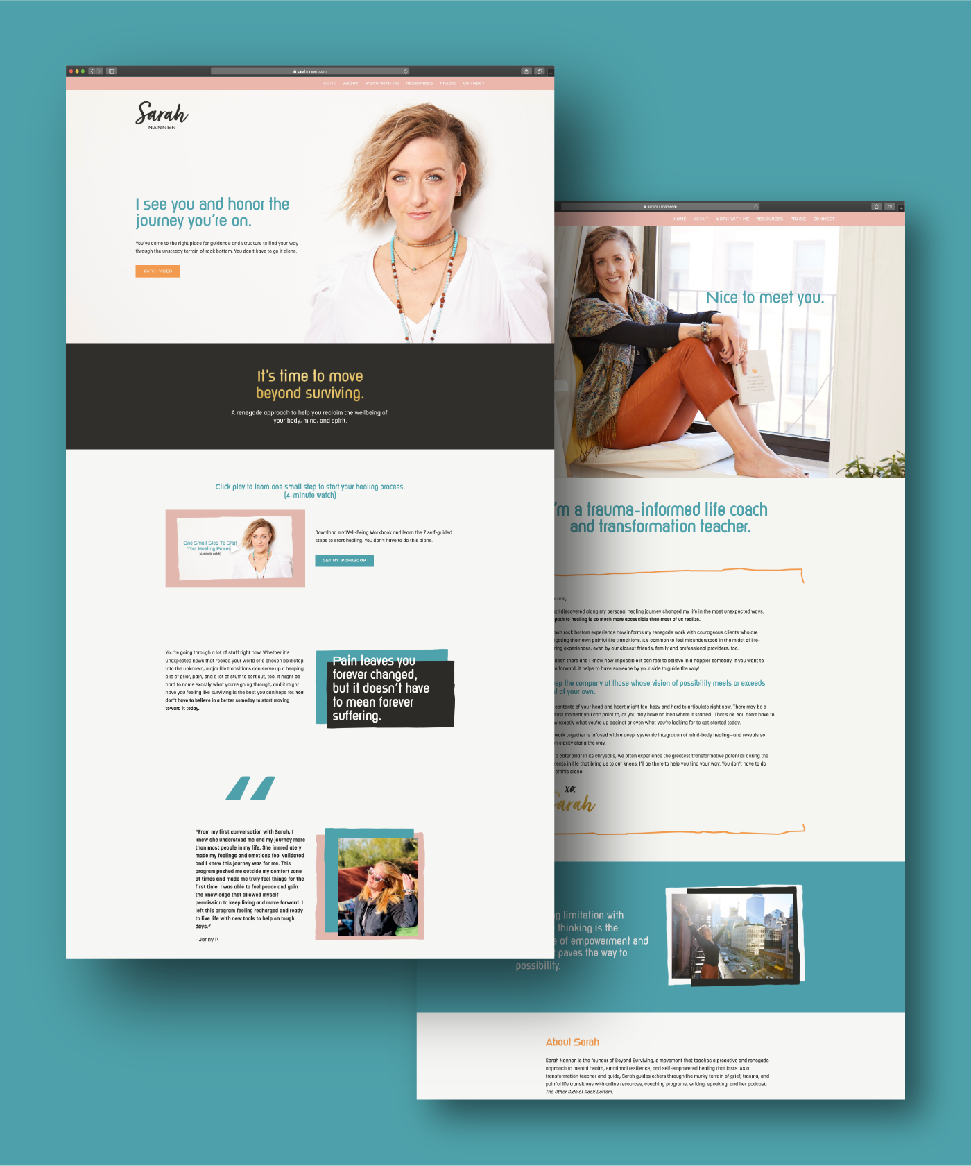 Sarah Nannen website design