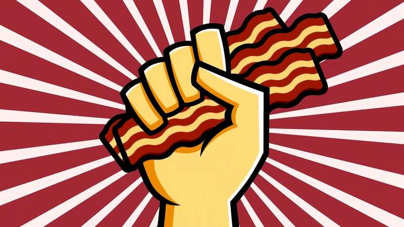 Learn about the chemical compounds and their reactions which gives bacon their delicious aroma