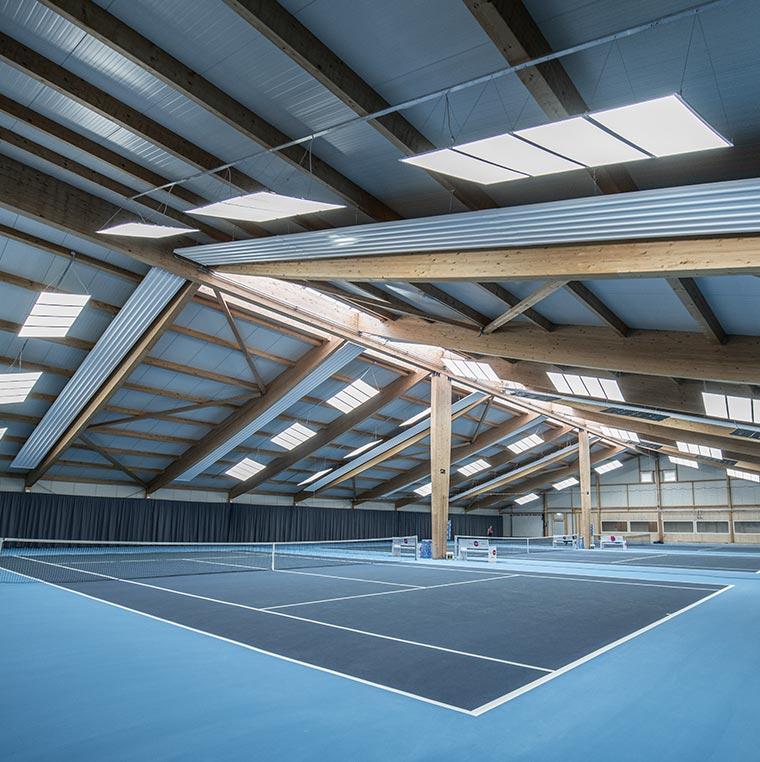 Tennishalle, Buchs