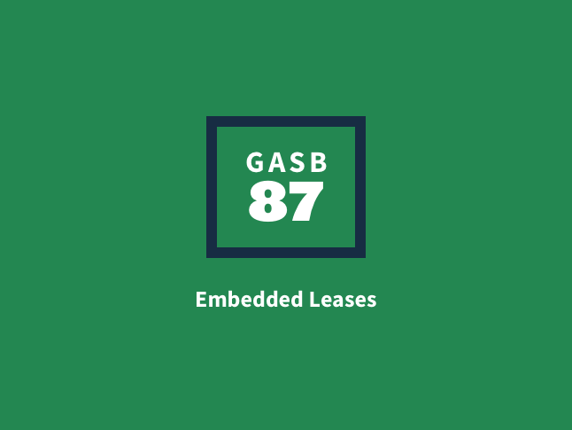 What is an embedded lease?