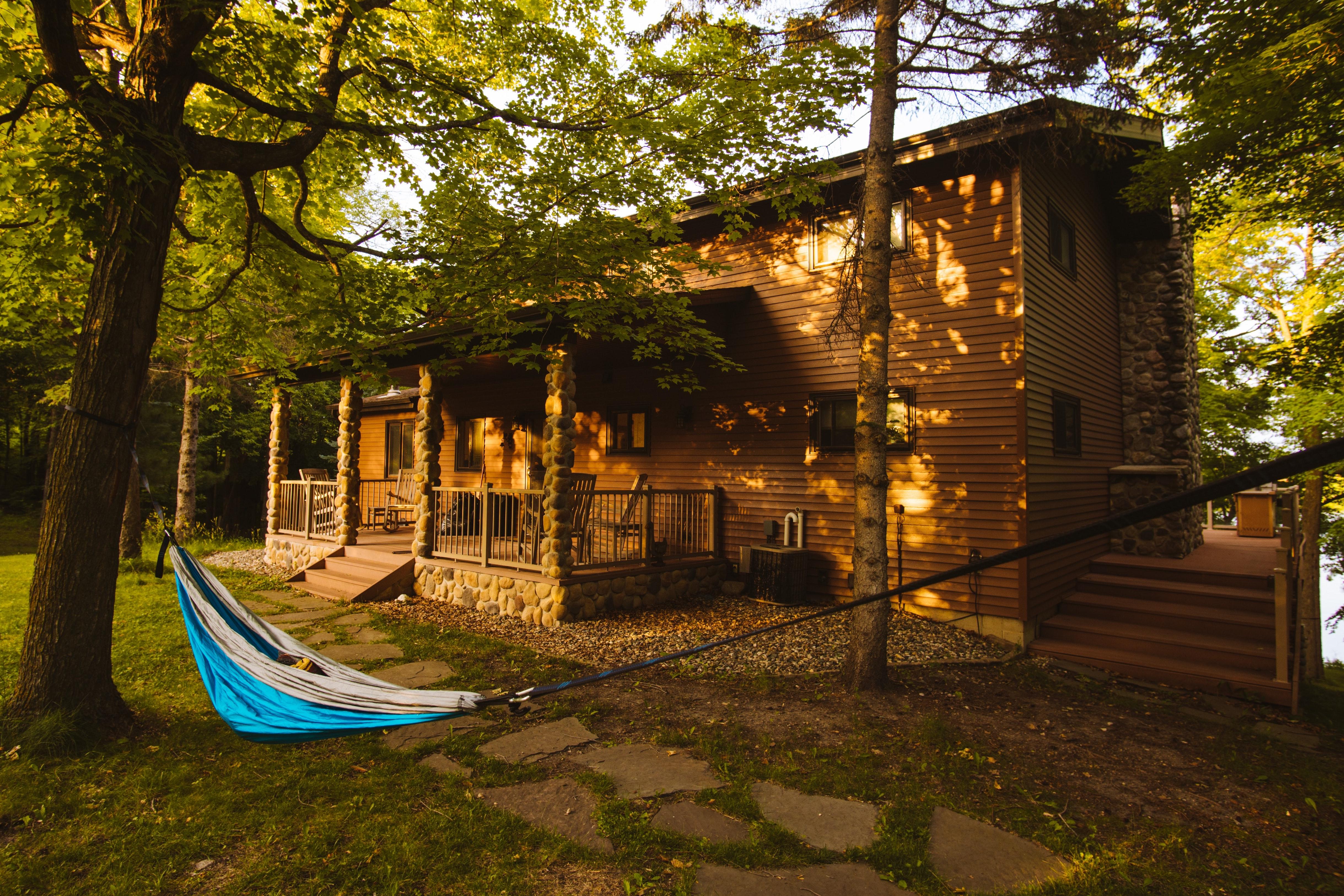summer camp cabin in America