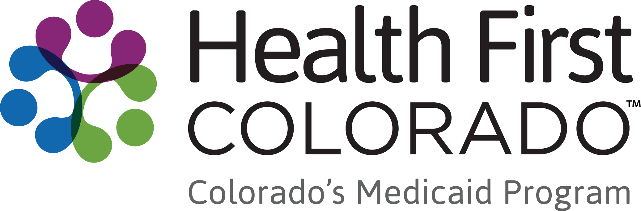 Health First Colorado logo.