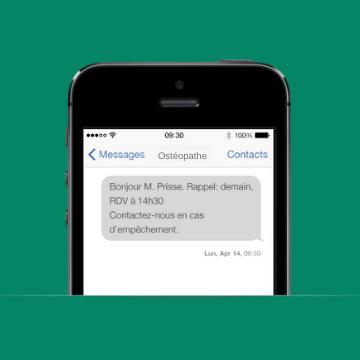 SMS Rendez-Vous Ostéopathe
