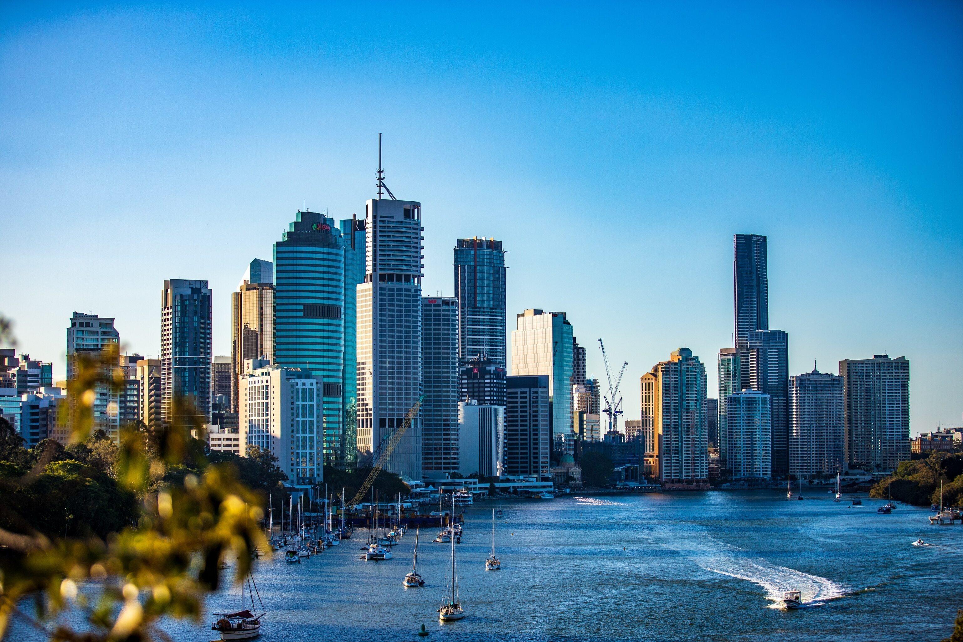 The skyline of Brisbane, Australia