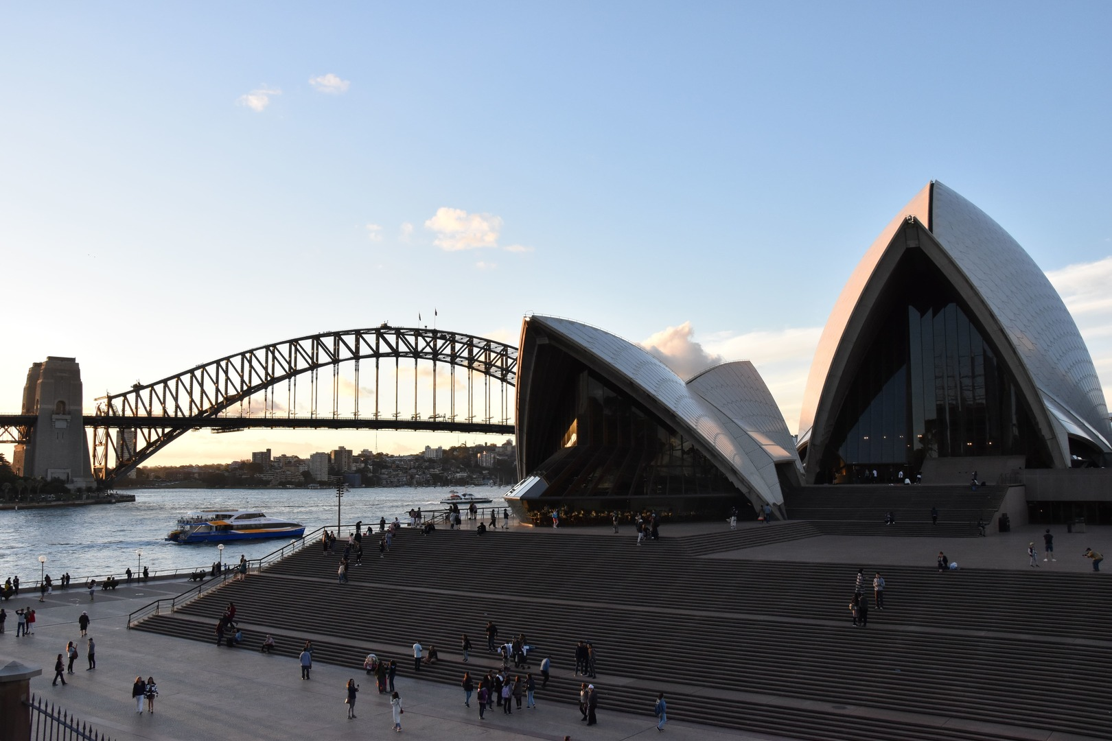 The Opera House and the Harbour Bridge in Sydney