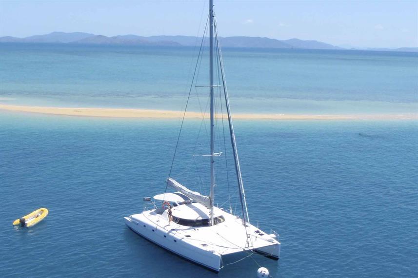 The Entice Cruise Ship at the Whitsunday Islands, Australia
