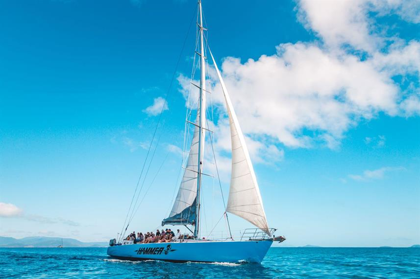 The Hammer Maxi Yacht at the Whitsunday Islands, Queensland, Australia