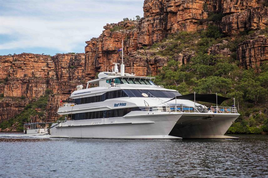 The Reef Prince liveaboard at Darwin Harbour and the Kimberley coast line in Australia