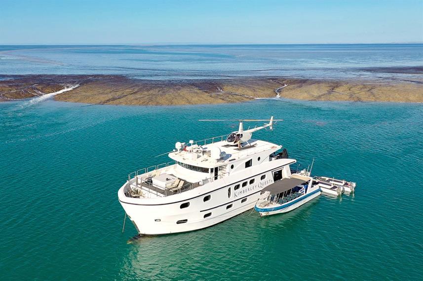 The Kimberley Quest cruise along the Kimberley coast line in Australia