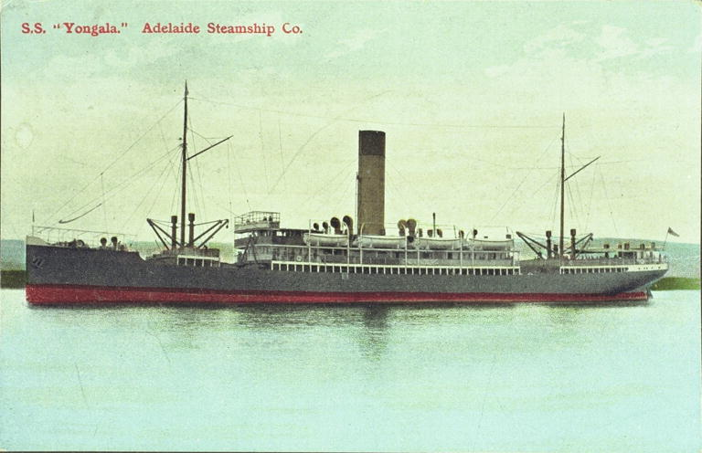 The S.S. Yongala - A vessel of the Adelaide Steamship Co.