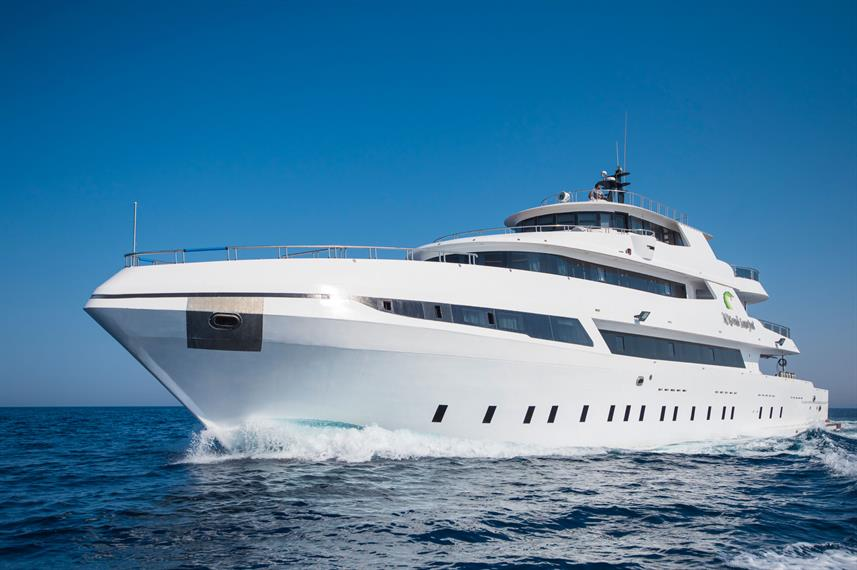 The liveaboard ''Sea Serpent Grand'' in the Red Sea, Egypt