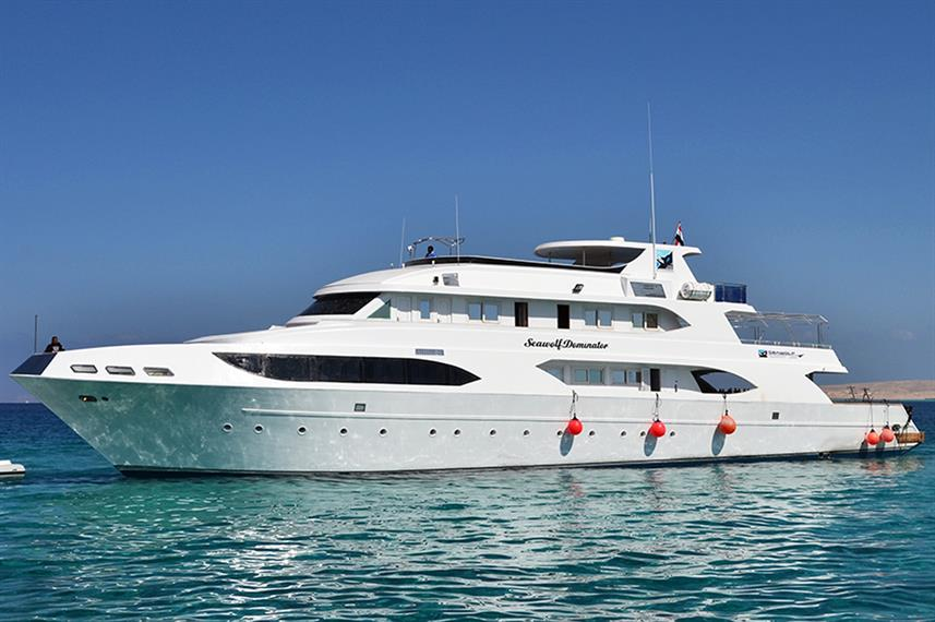 The liveaboard ''Seawolf Dominator'' offers diving trips to Dahab, Egypt
