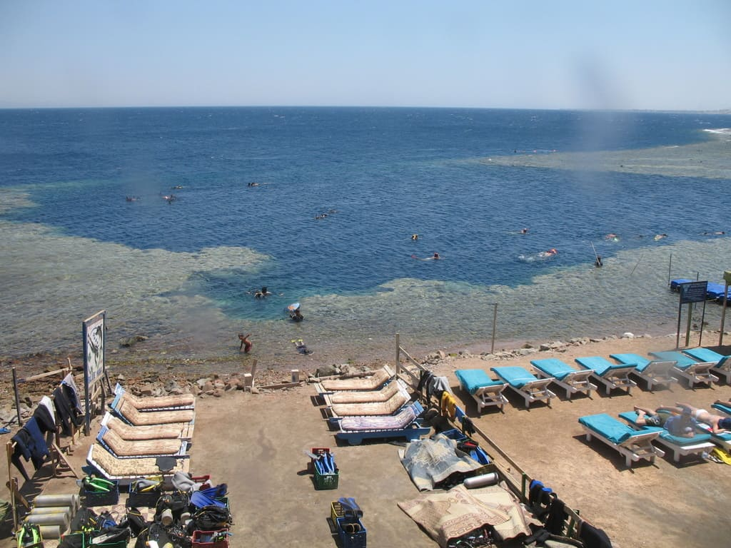 A view of the Blue Hole in Dahab, Egypt