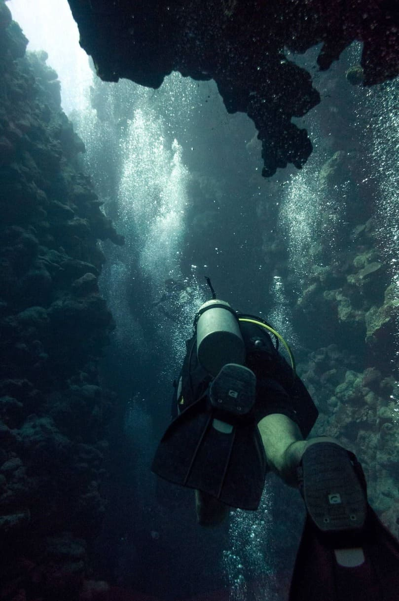 Dive site ''The Canyon'' in Dahab, Egypt