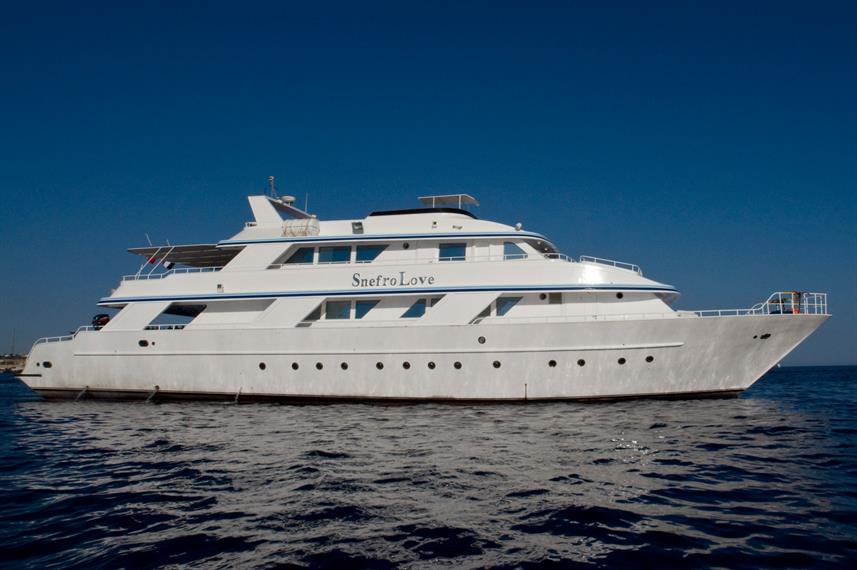 The Snefro Love liveaboard in Sharm el Sheikh, Egypt