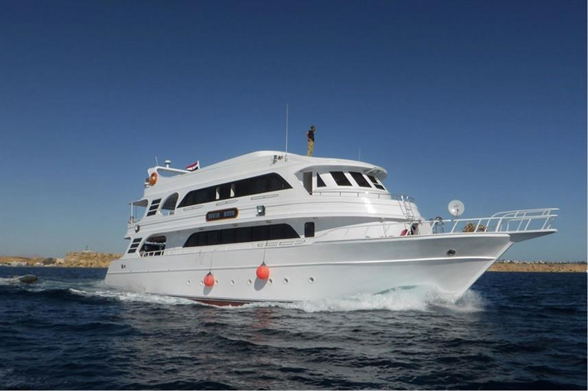 The South Moon liveaboard in Sharm el Sheikh, Egypt