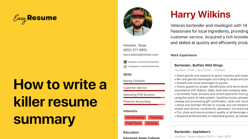 How to Write a Resume Summary: 10+ Examples