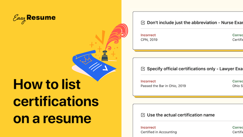 How to Correctly List Certifications on a Resume in 2020 (With Examples)