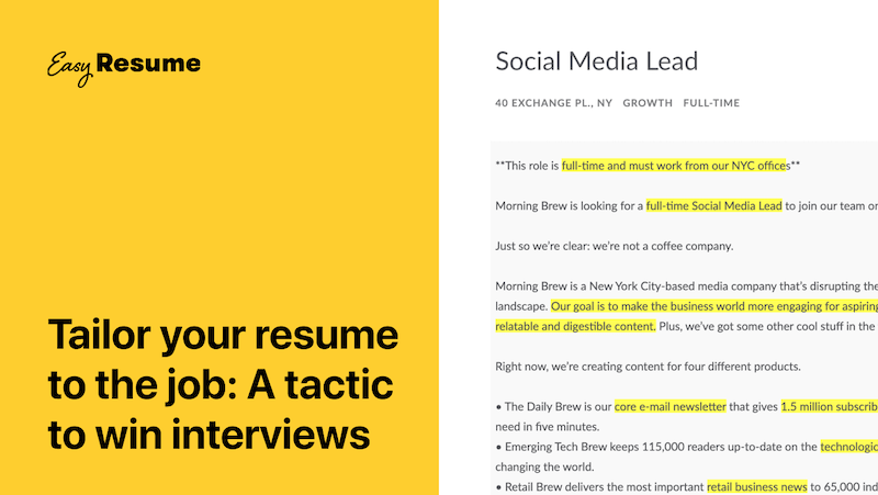 Tailor Your Resume to Any Job in 4 Easy Steps