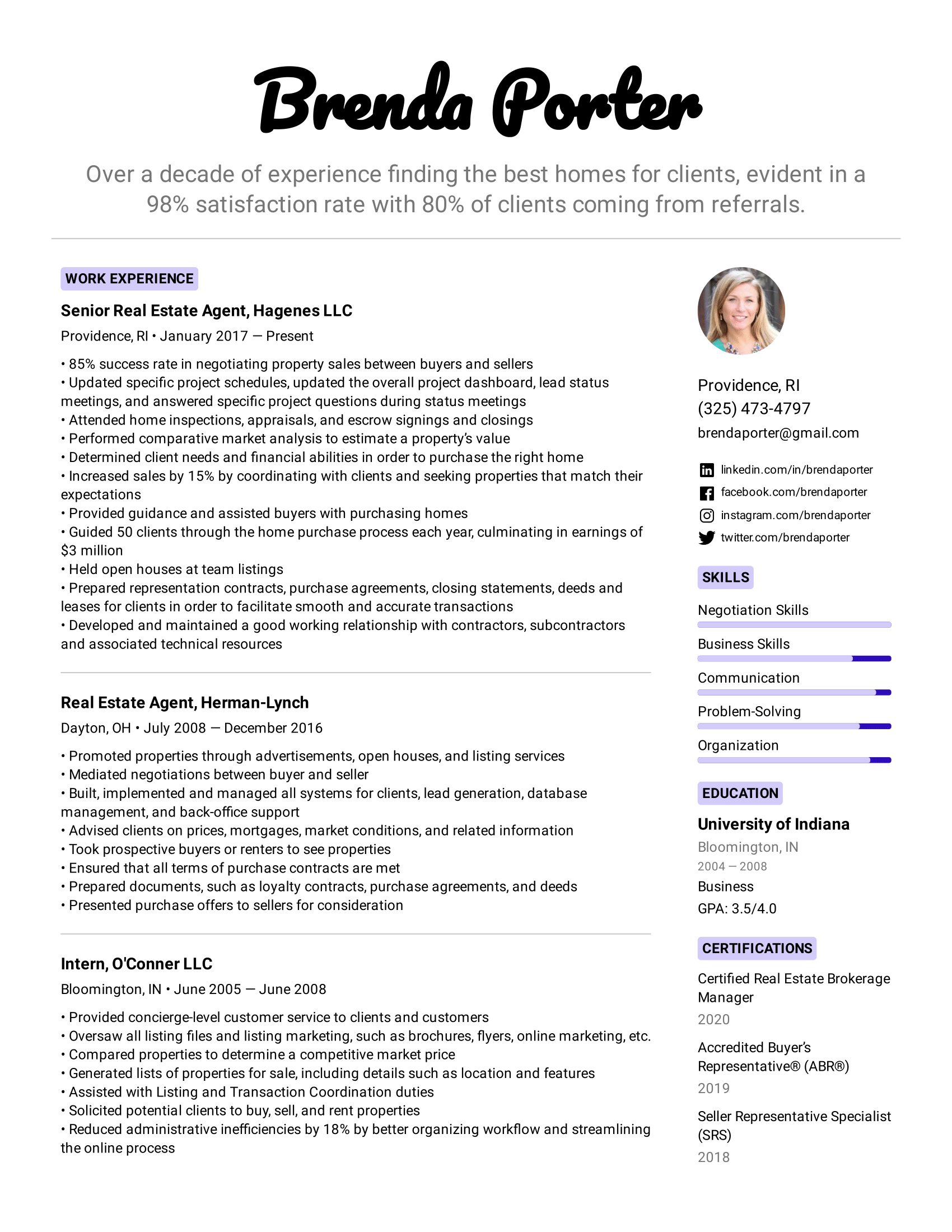 Real Estate Agent Resume Example Writing Tips For 2020