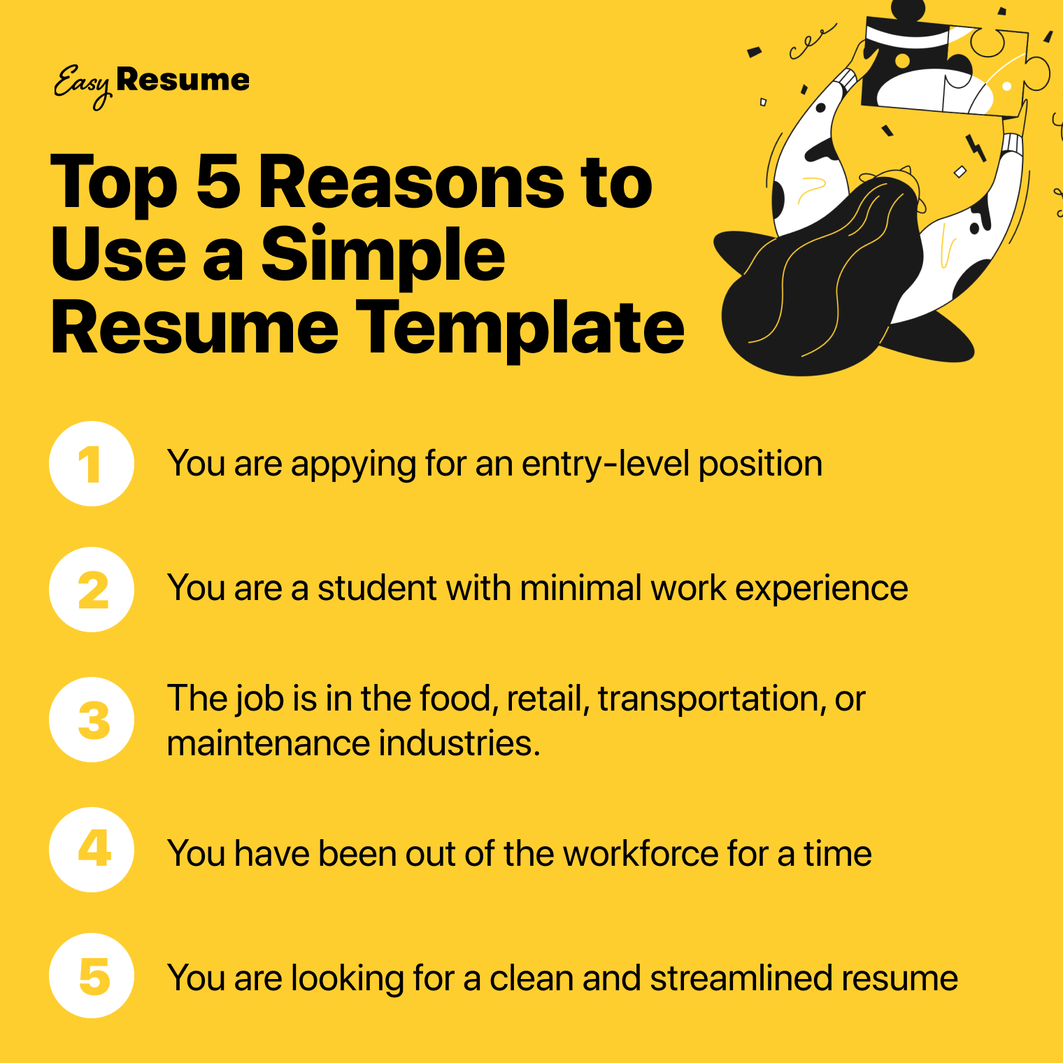 Top 5 Reasons to Use a Simple Resume Template