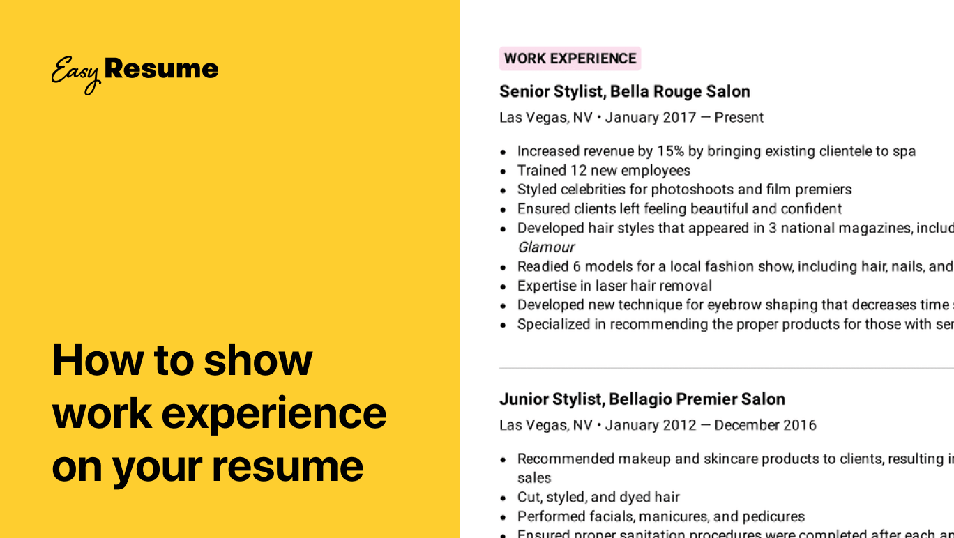 How to Describe Work Experience on a Resume in 2021 (Examples & Tips)