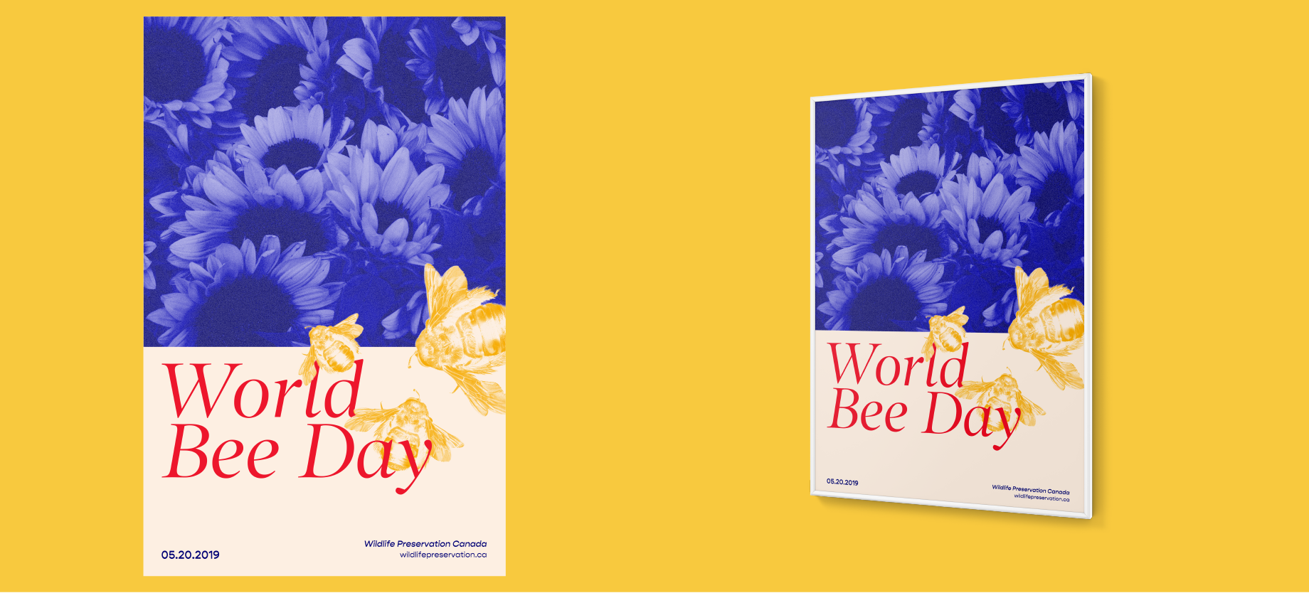 World Bee Day conservation poster light