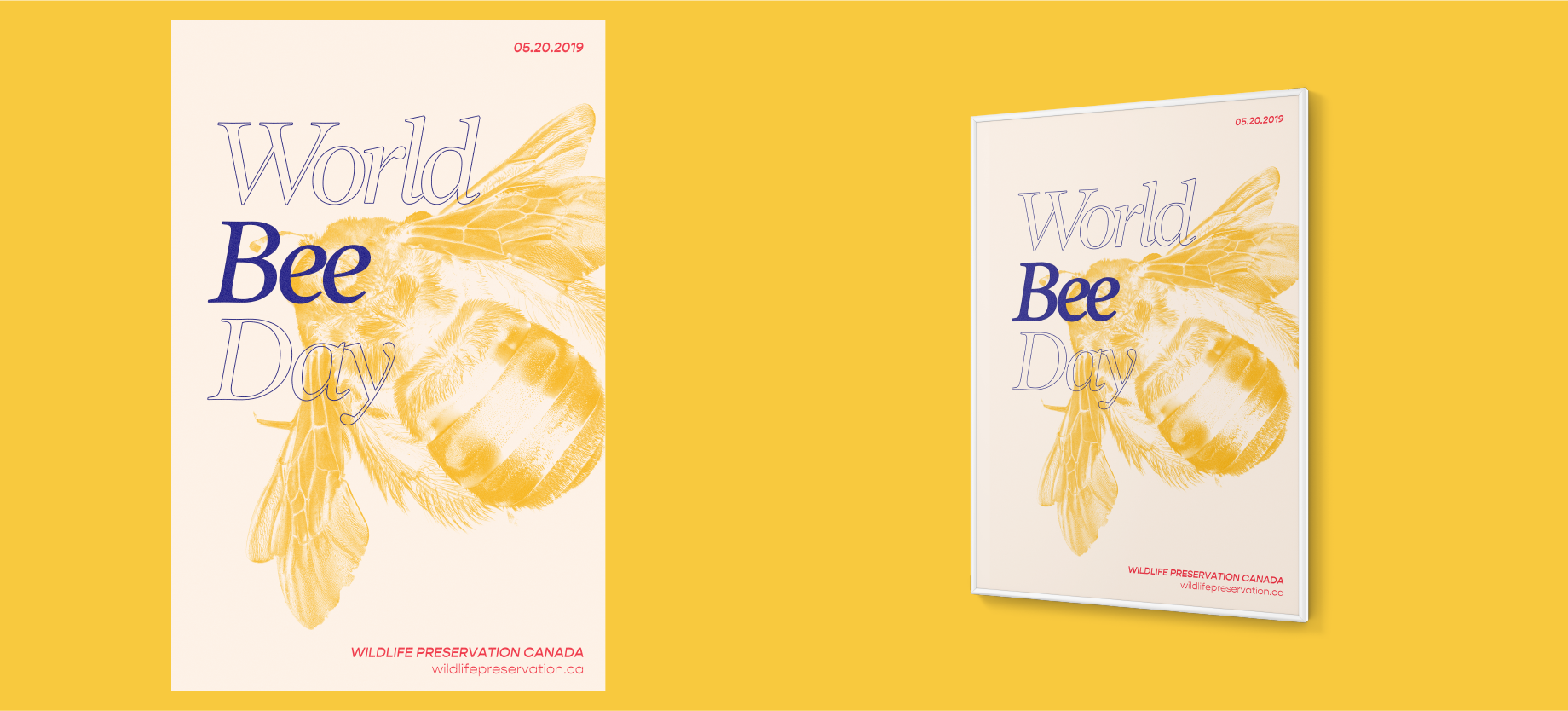 World Bee Day conservation poster medium