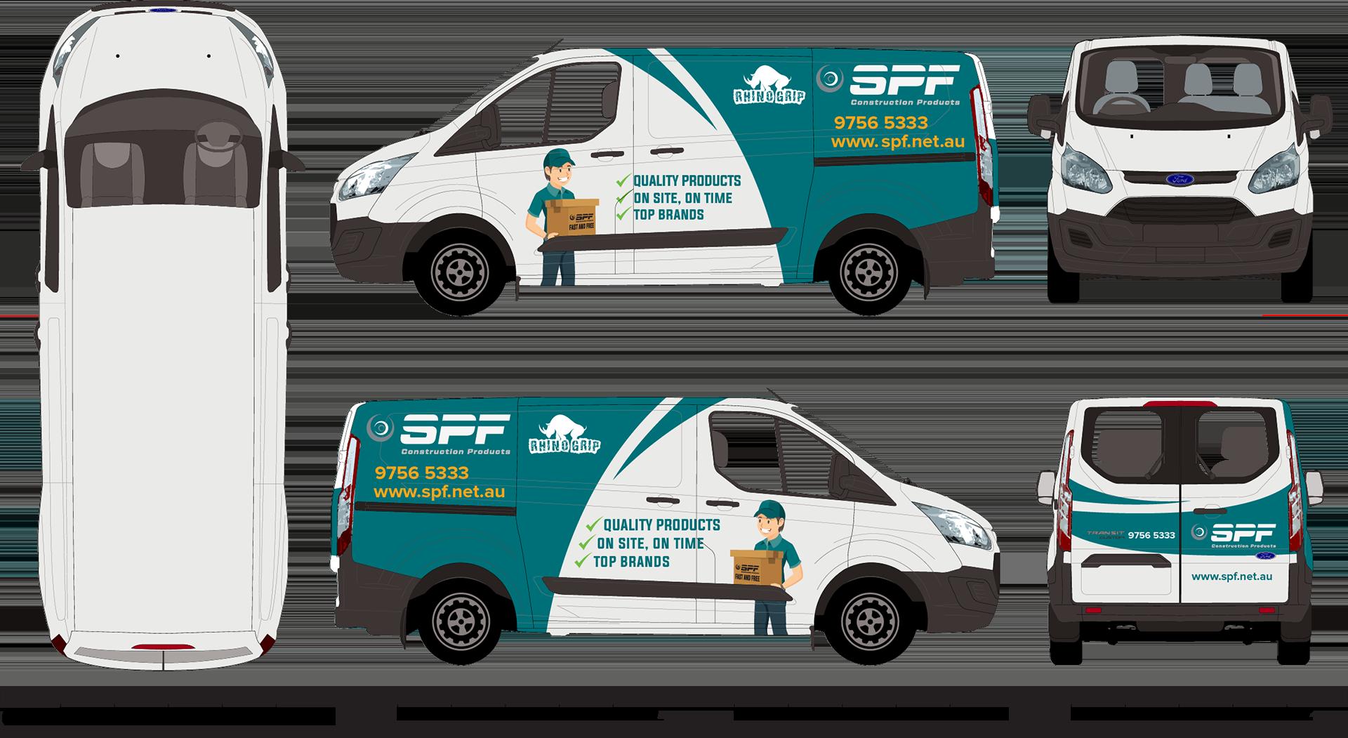 SPF vehicle wrap signage