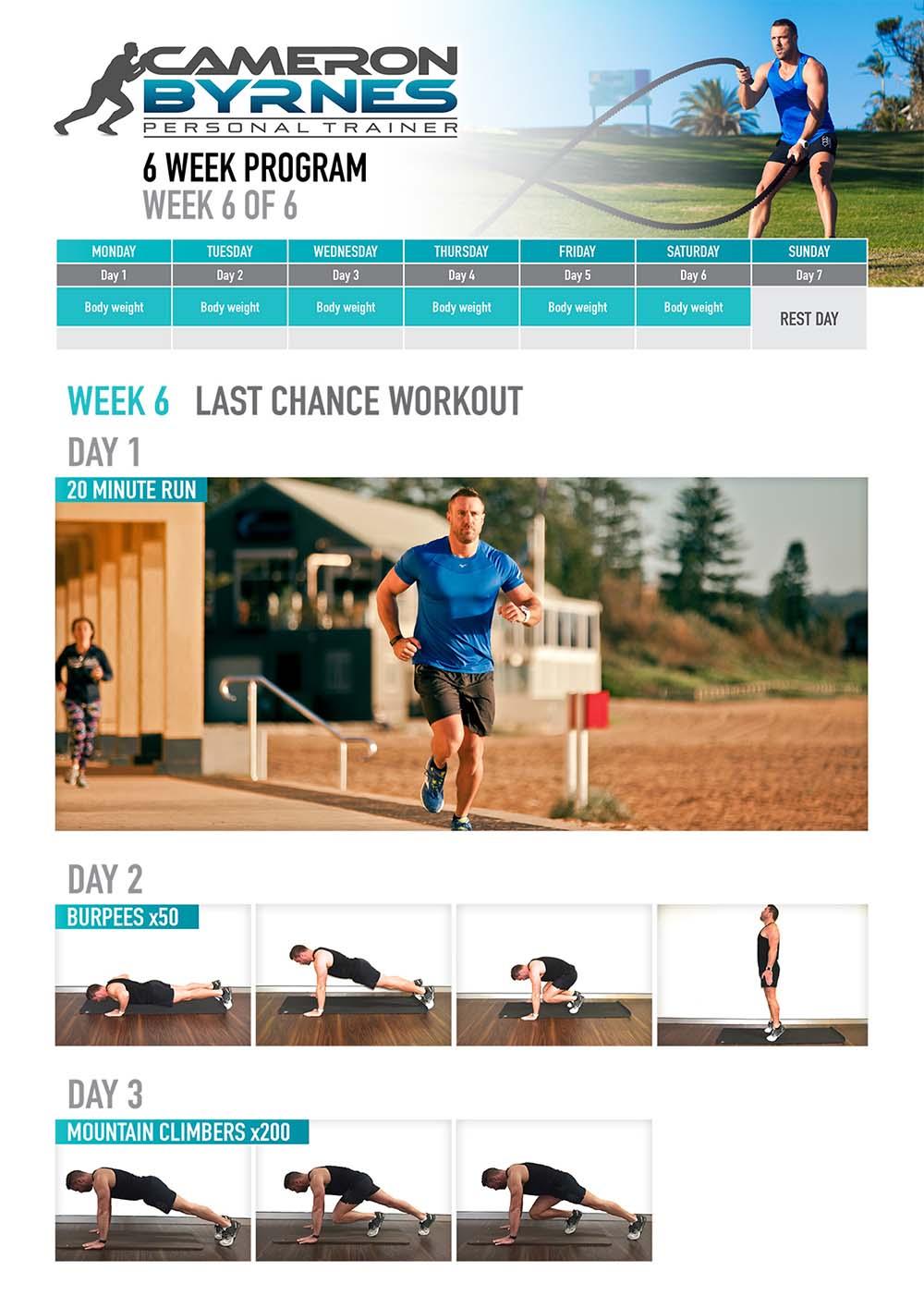 Cameron Byrnes workout program