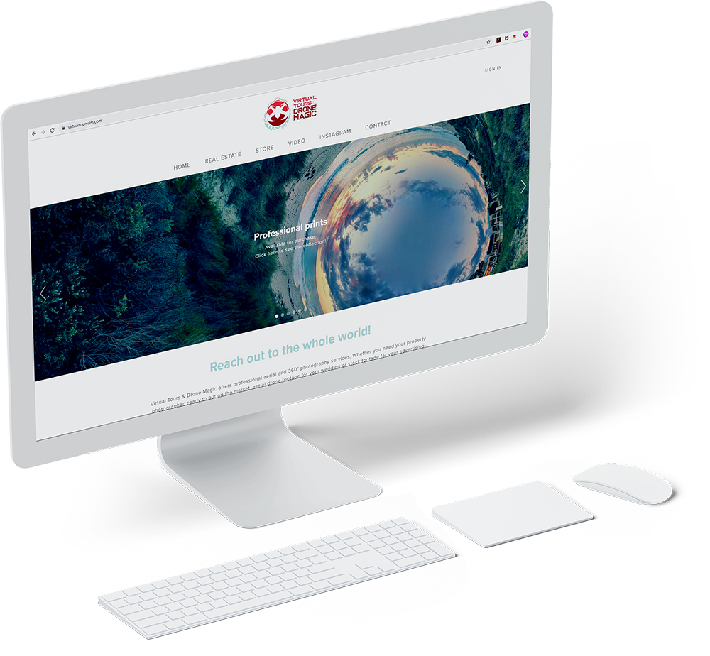 Virtual Tours & Drone Magic web design