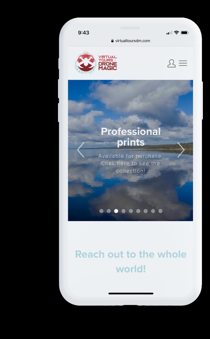 Virtual Tours & Drone Magic web design mobile