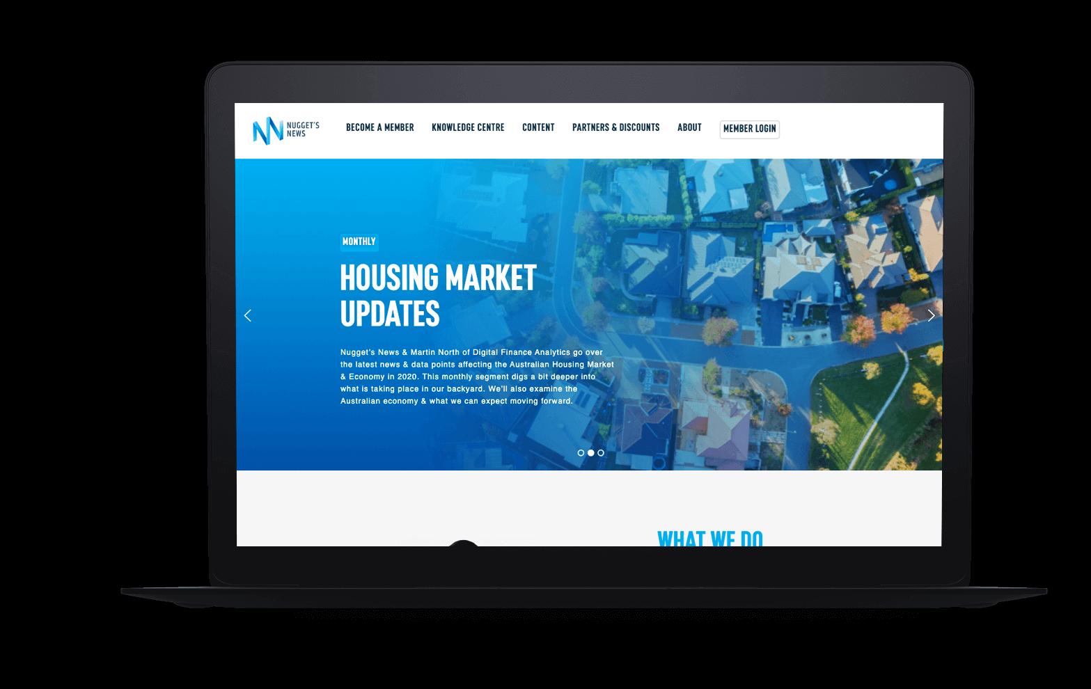Nuggets News website design
