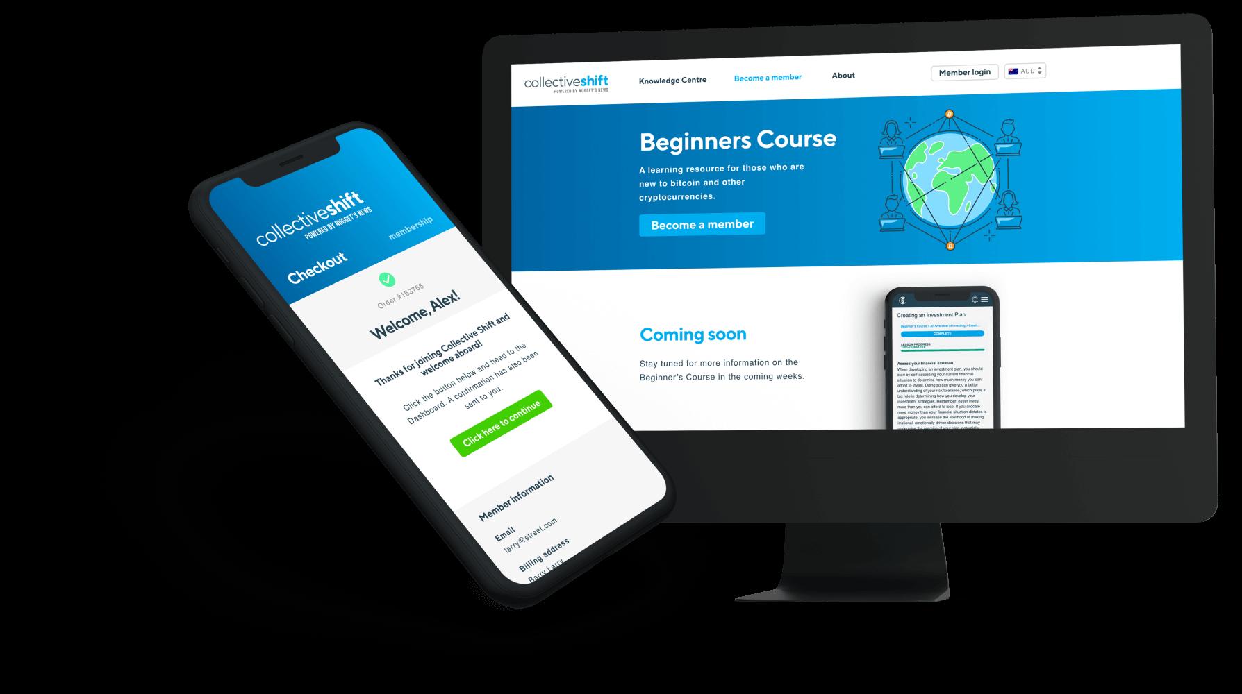 website design desktop and mobile