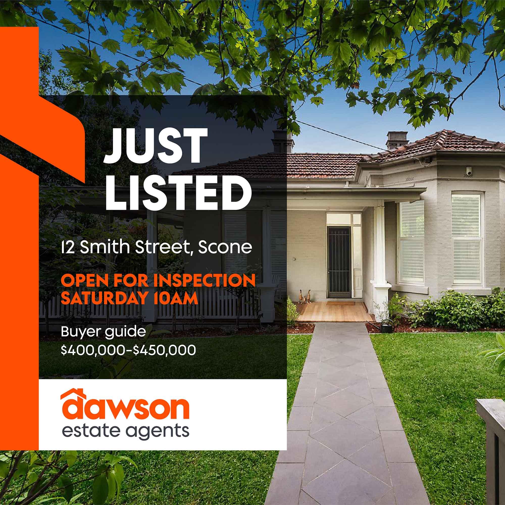 Social Media template for Dawson Estate Agents