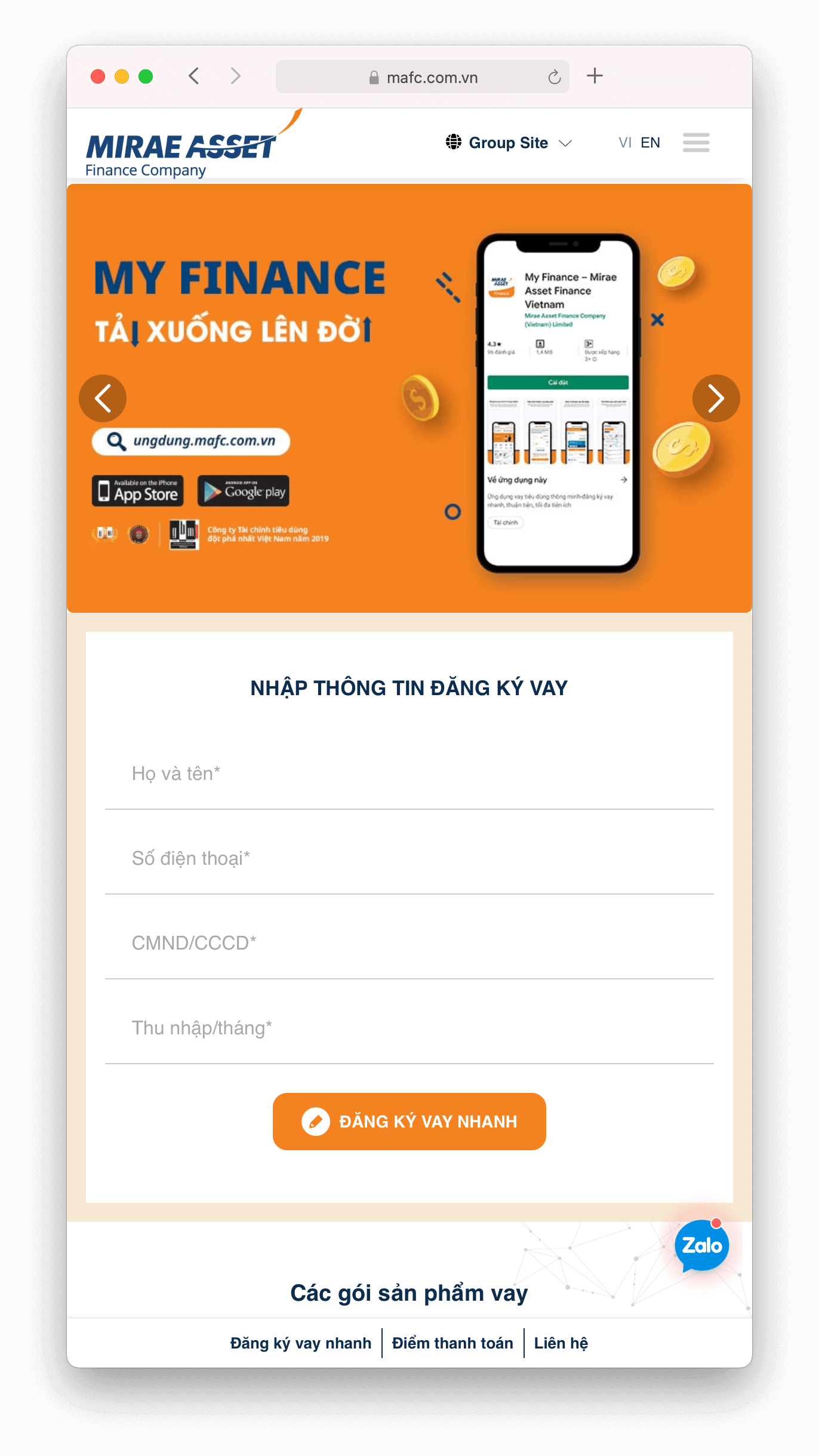 Cách Đăng Ký Vay Tiền Trên Website Tamo