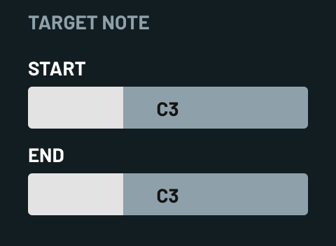 Target Note Properties