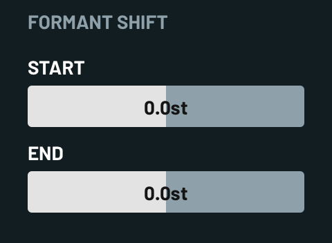 Formant Shift Properties