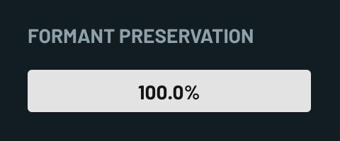 Formant Preservation Properties