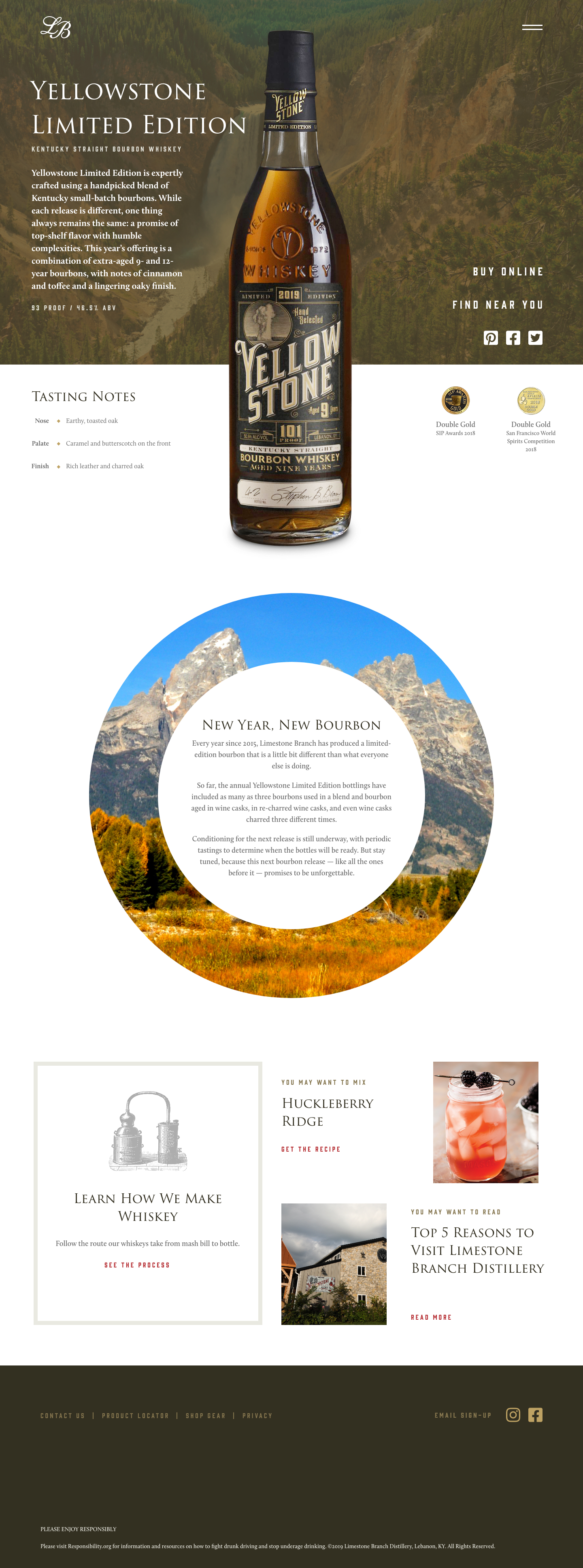 Yellowstone Bourbon Ltd Edition Product page