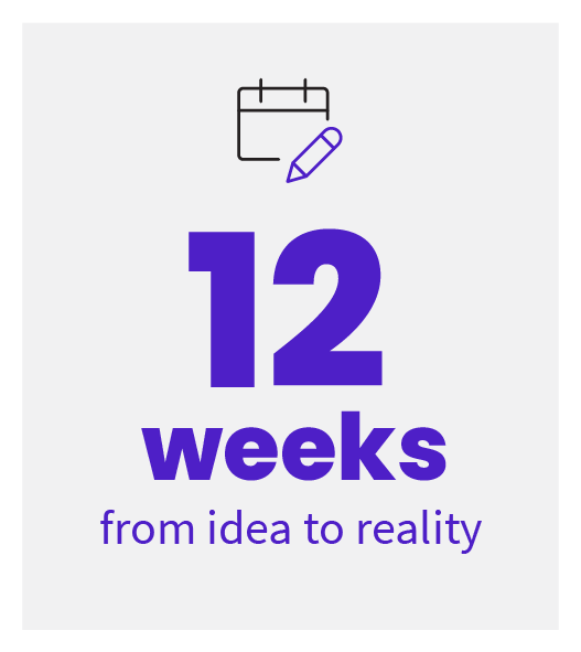 12 weeks from idea to reality