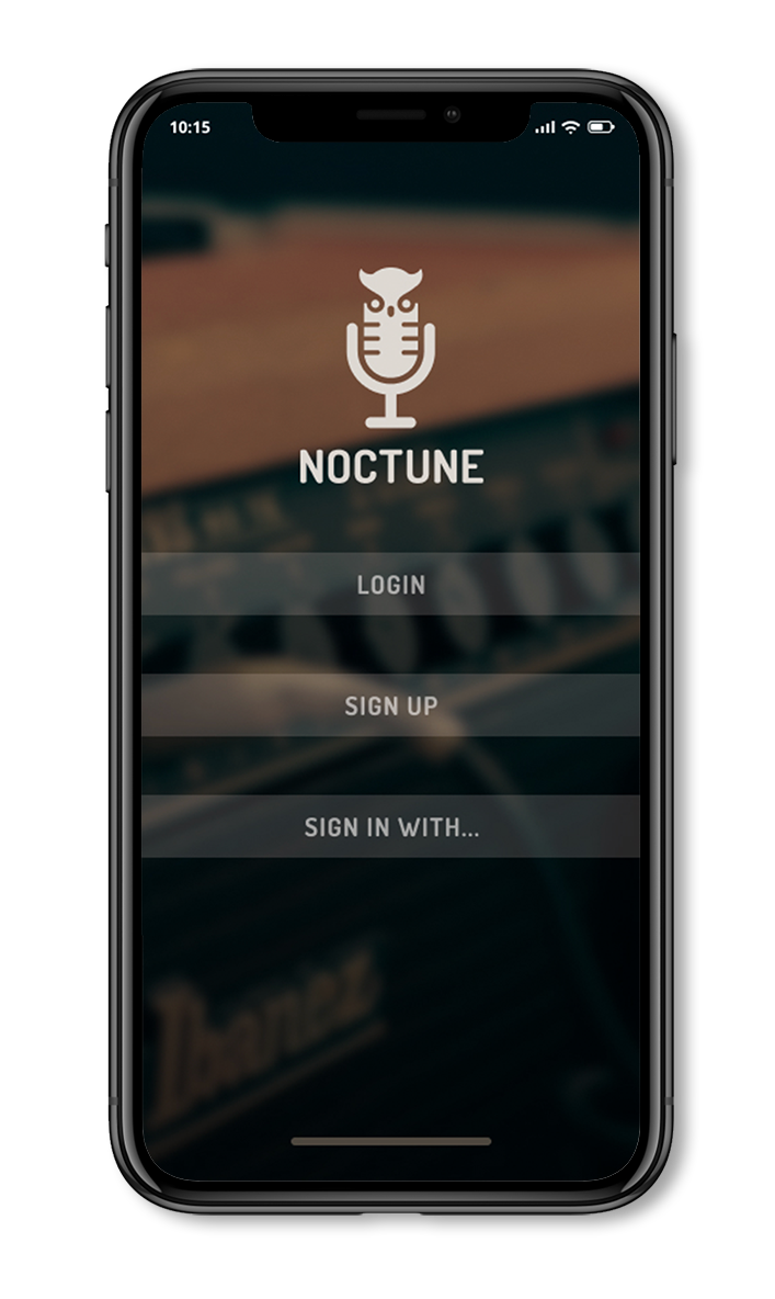 Noctune Home Screen