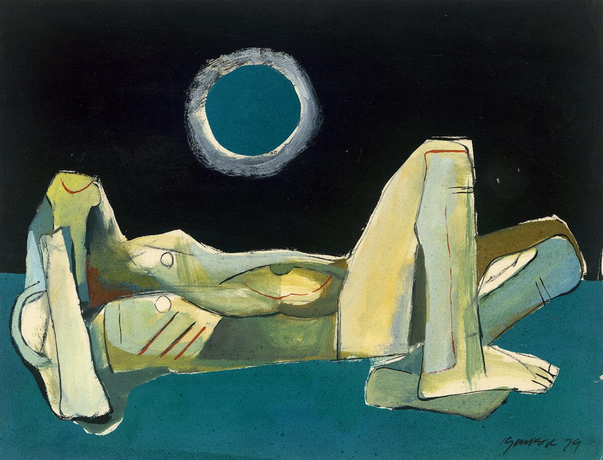 Ang Kiukok, Meditation, 1979, 23 x 30 cm