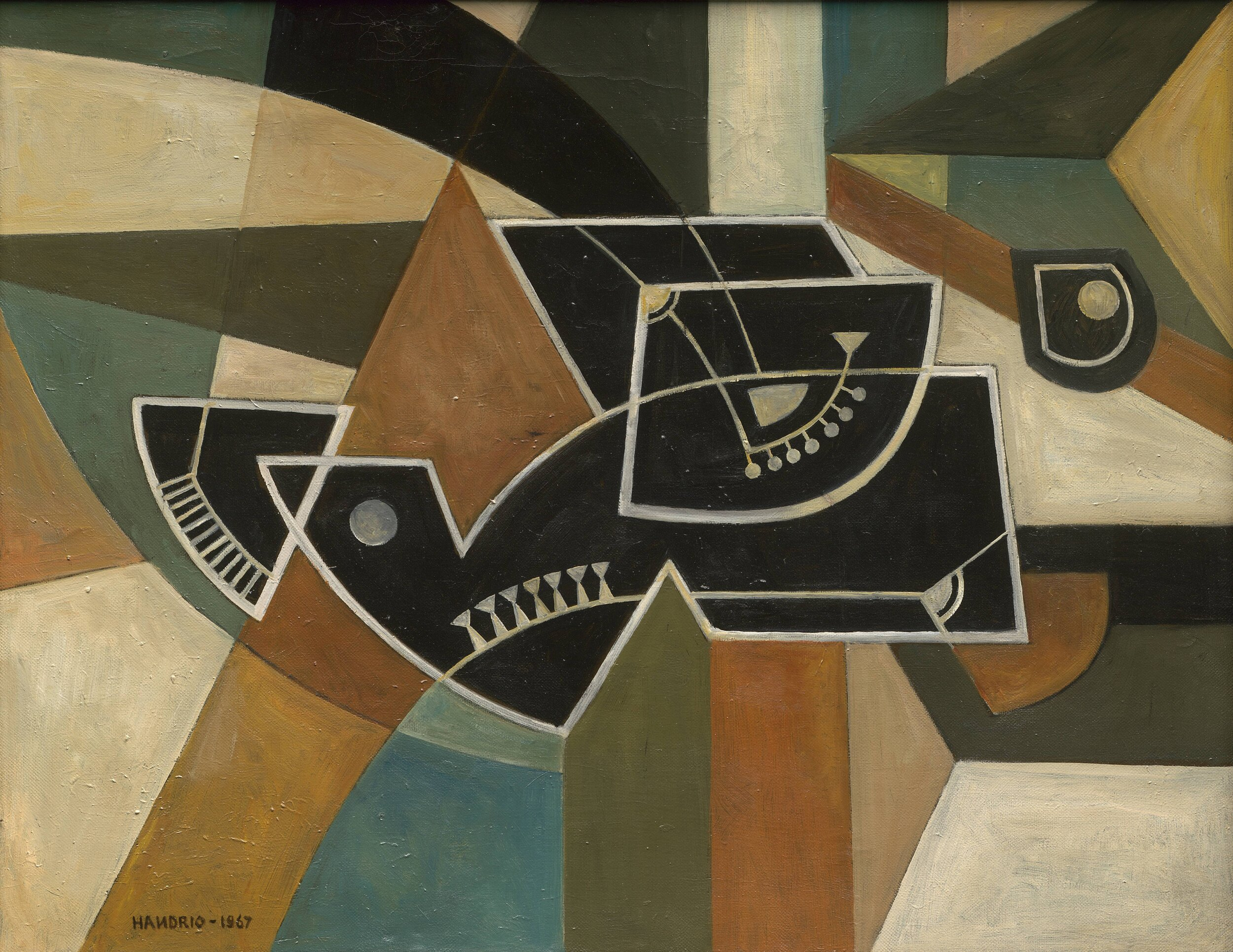 Handrio, Abstract Composition, 1967, 72 x 92 cm