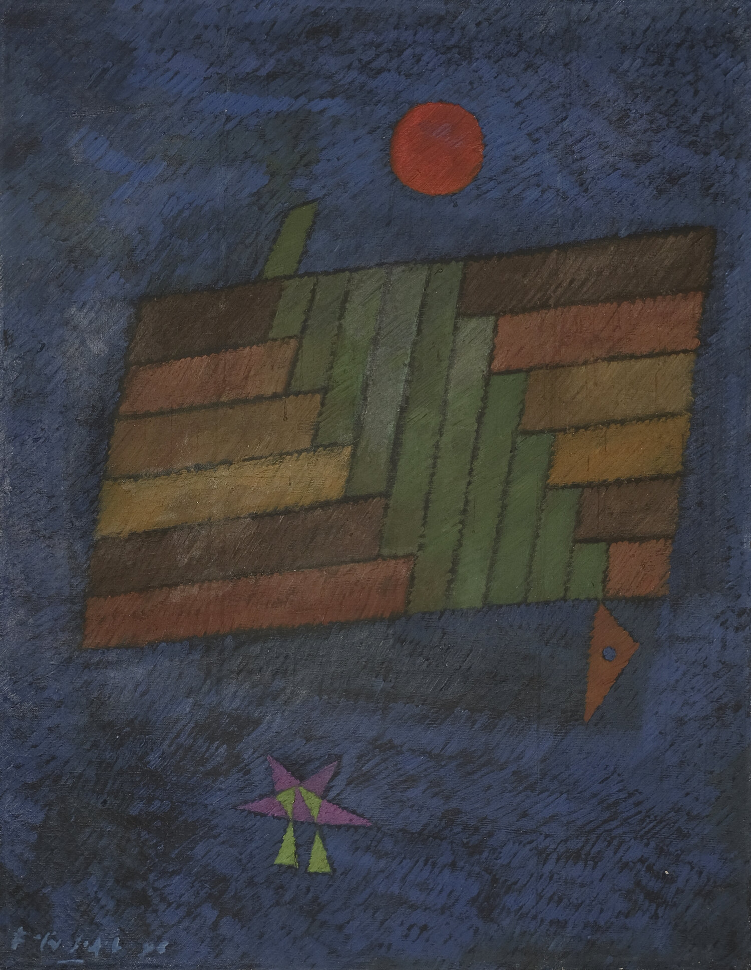 Fadjar Sidik, Dinamika Keruangan (Space Dynamics), oil on canvas, 90 x 60 cm, 1996