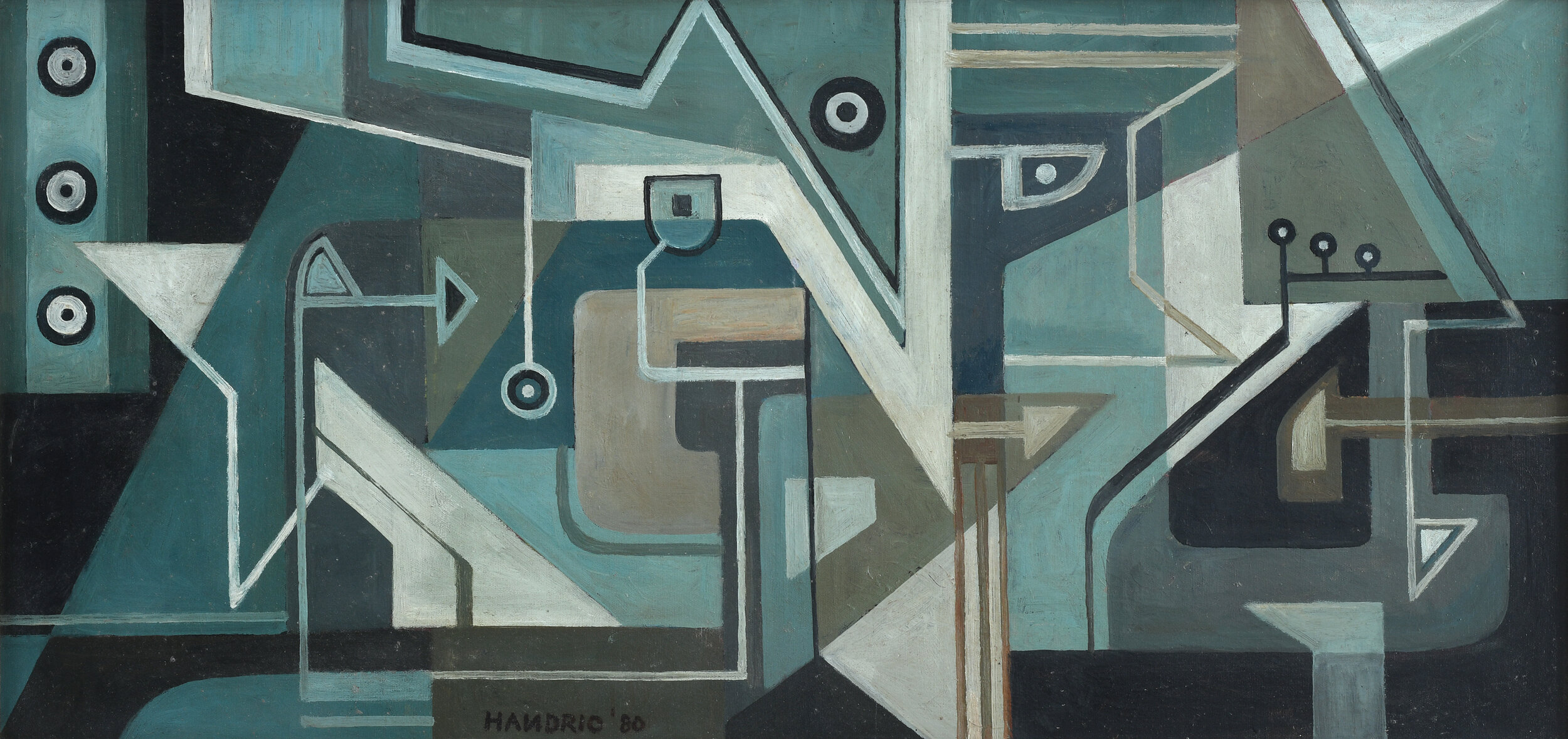 Handrio, Instalasi (Installation), 1980, 45 x 93 cm